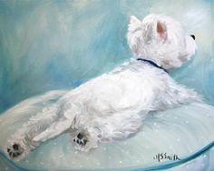 Westie West Highland Terrier https://www.etsy.com/listing/100310297/print-westie-west-highland-terrier-dog