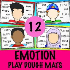 This activity is designed to assist students learning emotion   recognition skills, emotion regulation, feelings, behavior management   etc. Students use play dough to create facial features that correspond   to the emotion. This activity can be completed as is (i.e., no prep) or