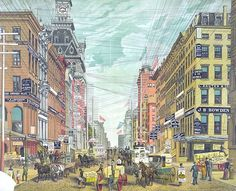 Before most cables ran underground, all electrical, telephone and telegraph wires were suspended from high poles, creating strange and crowded streetscapes. Here are some typical views of late-19th century Boston, New York, Stockholm, and other wire-filled cities.