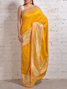 Mustard Yellow Banarasi Silk Saree Indian Wedding Outfits, Indian Weddings, Indian Outfits, Indian Attire, Indian Wear, Bridesmaid Saree, Yellow Saree, Soft Silk Sarees, Banarasi Sarees