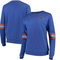 You can display that fandom everywhere when wearing this sleeve stripe fleece sweater from Colosseum! Florida Girl, Florida Gators, Fleece Sweater, Women Sleeve, Girl Fashion, Pullover, Clothes For Women, Lady, Sweatshirts