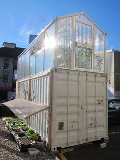 Urban farm built from a shipping cotnainer