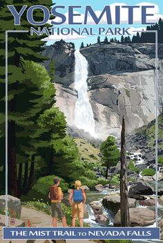 The Mist Trail - Yosemite National Park, California - Lantern Press