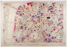During World War II, surveyors charted the city's ruined buildings in vivid color.