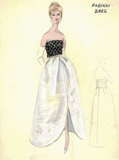 Fabiani Evening Dress by FIT Library Department of Special Collections, via Flickr