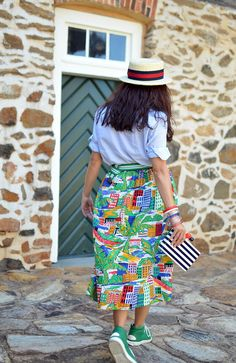 Yes, You Can Wear a Midi Skirt With High Top Sneakers - theoutfit