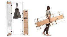 Proposta de Natalia Géci consiste em um sistema de móveis configurável, para…