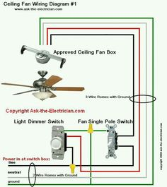 Hunter ceiling fan reverse switch wiring diagram httpladysro full color ceiling fan wiring diagram shows the wiring connections to the fan and the wall switches swarovskicordoba Choice Image