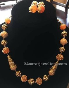 Fancy Beads Necklaces with Nakshi Balls Gold Jewellery Design, Bead Jewellery, Beaded Jewelry, Jewelery, Beaded Necklace, Temple Jewellery, Diamond Jewellery, Gold Earrings, Jewelry Necklaces