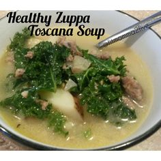 Healthy nutrition 21 day fix When we lived in Alaska one of the highlights of visiting family in Washington was having a Ladies Lunch at Olive Garden. Alaska didnt have any Olive Gardens then, not sure if they have any yet. Zuppa Tuscana Soup, Zuppa Toscana Suppe, Toscana Soup, Zuppa Soup, Toscana Recipe, Slow Cooker Recipes, Soup Recipes, Cooking Recipes, Crockpot Meals