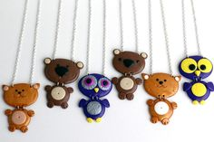 cute animal necklaces and brooches