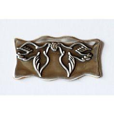 Eticheta metalica cu porumbei 1 Cookie Cutters, Metal