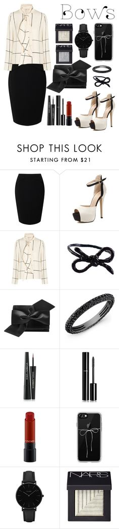 """Cremě Bow"" by mystic-punk ❤ liked on Polyvore featuring Jacques Vert, Tory Burch, Areaware, Victoria Beckham, Anne Sisteron, Dolce&Gabbana, Chanel, MAC Cosmetics, Casetify and CLUSE"