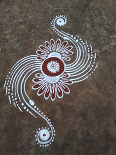 Rangoli Designs Diwali, Rangoli Ideas, Kolam Designs, Mehandi Designs, Small Rangoli, Flower Rangoli, Rangoli Colours, Rangoli Patterns, Welcome Rangoli