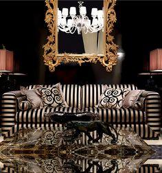 Glamourous Italian sofa