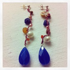 Earrings crochet