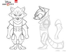 MOTH-EAT'N - Disney Infinity - Rocket Raccoon With such a long...
