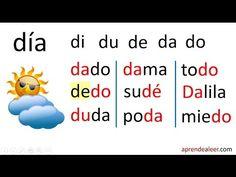Silabas la le li lo lu - palabras con m p l para niños - YouTube
