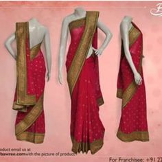 Pink Saree with God ravishing border !!