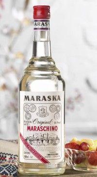 MARASKA MARASCHINO LIQUEUR Cocktail Drinks, Alcoholic Drinks, Beverages, Cocktails, Croatian Cuisine, Croatian Recipes, Whiskey Bottle, Vodka Bottle, Liquor Bottles