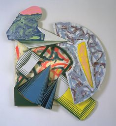 Frank Stella -'Salta nel mio Sacco' is from a series of metal reliefs entitled 'Cones and Pillars' which Stella created in the mid 1980s. © ARS, NY and DACS, London 2002