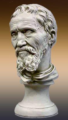 Michelangelo – bust of the sculptor. Michelangelo, Stone Sculpture, Sculpture Art, Miguel Angel, Wassily Kandinsky, Statues, High Renaissance, Italian Art, Western Art