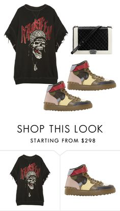 """Untitled #2431"" by loveparis7 ❤ liked on Polyvore featuring Chanel, R13 and Valentino"