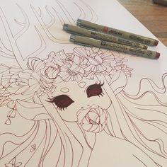 inks #forestspirit #original #illustration #lineart #art #nofilter