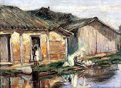 A lavadeira, 1920 Anita Malfatti ( Brasil 1889-1964) óleo sobre tela, 37 x 50 cm Coleção Particular