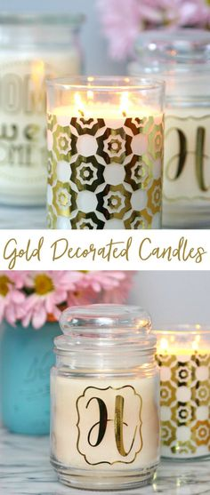 Decorate Candles with Your Cricut Explore Air 2 - Happy Go Lucky | #cricutmade #ad #lovemycricut @Cricut