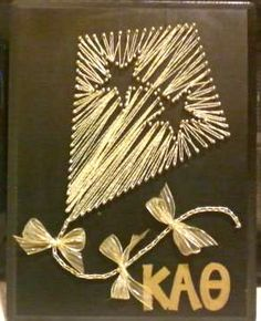 For those with a lot of time, this would make a great wall decoration or #BigLittle gift! #KappaAlphaTheta #Theta