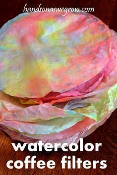 make flowers from watercolored coffee filters