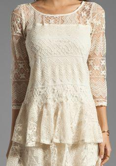 cream linen dress - lace overlay=pretty