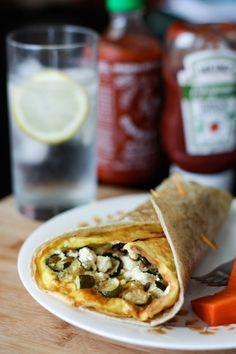Roasted Zucchini and Onion Frittata Wrap