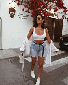 Chill Outfits, Cute Summer Outfits, Mode Outfits, Cute Casual Outfits, Short Outfits, Stylish Outfits, Fashion Outfits, Casual Date Outfit Summer, Vacation Outfits