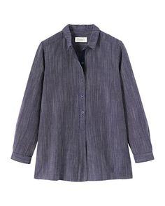 Women's Stripe Cotton/Linen Shirt from Toast