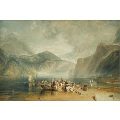 Joseph Mallord William Turner, Lake of Lucerne, from the Landing Place at Fleulen..., 26x39, 2-3MM gbp