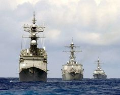 USS Thorn, USS Cole, USS Gonzalez- This was our line up on my first deployment November 2003 - April 5, 2004 (I returned stateside one month early due to orders). I was on the Gonzalez. This was the Cole's first deployment since the Yemen incident.