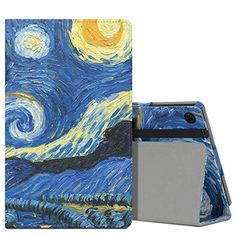 MoKo Case for AllNew Amazon Fire HD 8 2016 6th Generation  Slim Folding Stand Cover with Auto Wake  Sleep for Fire HD 8 Tablet 6th Gen 2016 release Only Starry Night *** Learn more by visiting the image link. (Note:Amazon affiliate link)