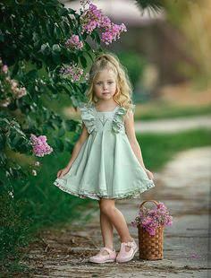 Sunshine and sweet smell of flowers😍 , , , Little Girl Dresses, Girls Dresses, Flower Girl Dresses, Cute Outfits For Kids, Toddler Outfits, Little Girl Fashion, Kids Fashion, Beautiful Little Girls, Trendy Kids
