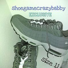 competitive price e3fb8 64088 NIKE AIR MAX 95 RUNNING SHOES DARK GREY WOLF GREY  160 RARE 609048-088 (