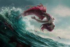 Art featuring merfolk and all sorts of aquatic humanoid creatures. Mermaid Artwork, Mermaid Drawings, Mermaid Paintings, Art Drawings, Fantasy Mermaids, Mermaids And Mermen, Evil Mermaids, Siren Mermaid, Arte Obscura