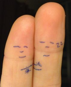 Finger hug good night