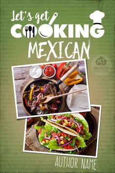 Premade book cover for cookbook ebook • Title available for use :) 4-Book Series Set