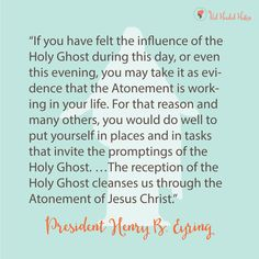 July Young Women - How Do I Receive the Gift of the Holy Ghost? Free ...
