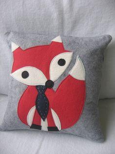 fox pillow - for a little boys room?