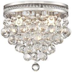 "Regina Olive Bronze 12"" Wide Crystal Ceiling Light - #7W099 | LampsPlus.com"
