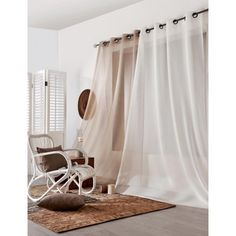 Voilages Lin Gold Curtains, Ikea Curtains, Drop Cloth Curtains, Hanging Curtains, Kitchen Curtains, Farmhouse Curtains, Blackout Curtains, Room Organization, Stores