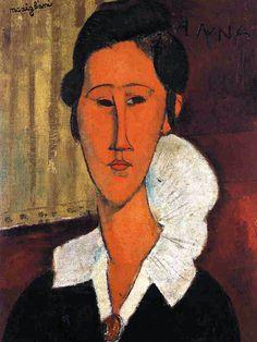 Amedeo Modigliani, Anna (Hanka) Zborowska, 1917. Olio su tela, cm. 55 x 33. Galleria Nazionale d'Arte Moderna e Contemporanea, Rome