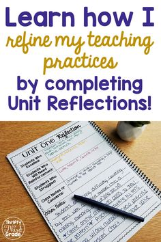 As educators, its important that we are constantly learning and constantly growing. Learn how I use unit reflections to refine my teaching process over the years! 2nd Grade Teacher, Third Grade Math, Elementary Teacher, Elementary Schools, Upper Elementary, Fourth Grade, Teacher Organization, Teacher Hacks, Organized Teacher